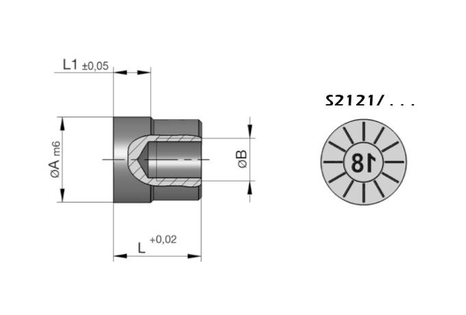 S2121 Datumssteller für Druckgießwerkzeuge, Jahr